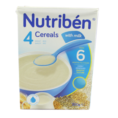 Nutriben 4 Cereals with Milk – 300g